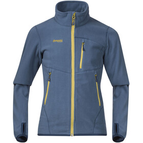 Bergans Runde Jacket Youth Steel Blue/Yellowgreen/Dark Steel Blue